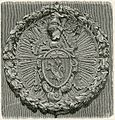 Imola stemma di Guido Vaini capo dei Ghibellini di Romagna xilografia.jpg
