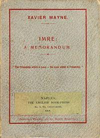 Imre: A Memorandum cover