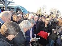 Inauguration de la branche vers Vieux-Condé de la ligne B du tramway de Valenciennes le 13 décembre 2013 (090).JPG