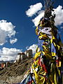 India - Ladakh - Leh - 040 - Prayer flags and old fort above Leh (3845218926).jpg