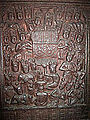 Indian Museum Sculpture - Ajatasattu worships the Buddha (9217704485).jpg