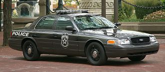 Ford Crown Victoria Police Interceptor - A second  Ford Crown Victoria Police Interceptor of the Indianapolis Police Department in 2008