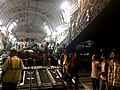 Indians evacuated from Yemen in an IAF C17 Globemaster-III aircraft reached at Mumbai airport on April 03, 2015.jpg