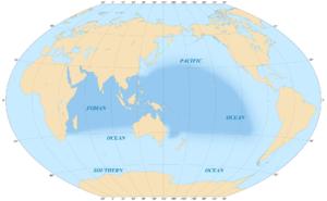 Indo-Pacific - Area covered by the Indo-Pacific biogeographic region