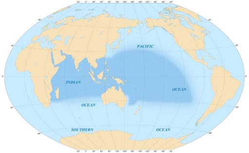 Indo-Pacific biogeographic region map-en
