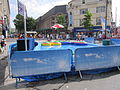 Inflatable boating pool at Church Street, Liverpool.JPG