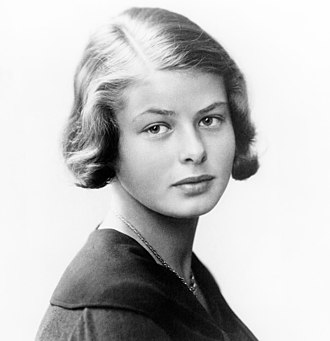Ingrid Bergman - Bergman at around the age of 16. The self-portrait was taken with her deceased father's camera equipment.