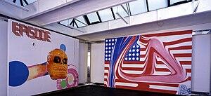 Michel Majerus - Installation view: controlling the moonlight maze, neugerriemschneider, Berlin