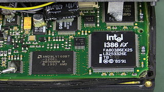Intel 80386EX variant of the Intel 386 microprocessor designed for embedded systems, introduced in August 1994