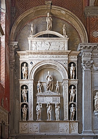 Pietro Mocenigo - Image: Interior of Santi Giovanni e Paolo (Venice) Monumento del doge Pietro Mocenigo Pietro Lombardo