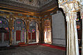 Interior view of a room in Meherangarh Fort Museum.jpg