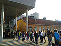 International students waiting at the Police Station of Trondheim to get registered for their exchange semester.jpg