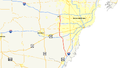Interstate 275 (Michigan) map.png