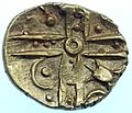 Iron Age Coin, Clacton Cross type stater (obverse) (FindID 658447).jpg