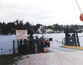Ironton Ferry - Ironton Ferry from the eastern shore of the south arm of Lake Charlevoix in May 1990.