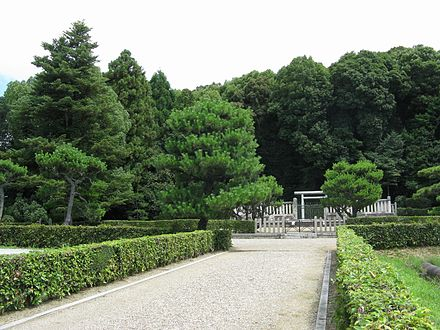 Memorial Shinto shrine and mausoleum honoring Emperor Itoku.