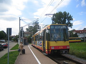 Busenbach–Ittersbach railway - The end of the line at Ittersbach Rathaus