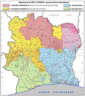 Race and ethnicity in censuses - Ethnic composition of the Ivory Coast (note: the map is in French).