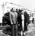 J. N. and Edna Ruth Byler in Akron, Pennsylvania, circa 1945 (9066124741).jpg