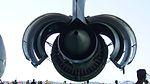 JASDF C-2(68-1203) CF6-80C2K1F turbofan engine(right wing, cowl open) behind view at Miho Air Base May 28, 2017.jpg