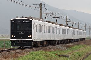 305 series - 305 series set W1 on the Chikuhi Line in January 2016