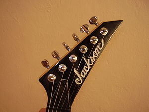 Jackson Guitars - The distinctive Jackson headstock.