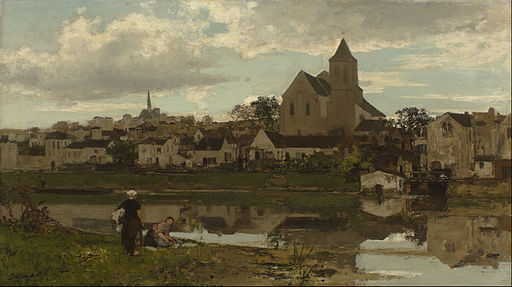 Jacob Maris - View at Montigny-sur-Loing - Google Art Project