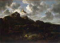 Jacob van Ruisdael - Mountain landscape by a river.jpg