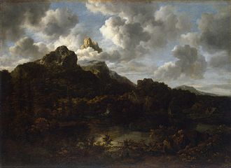 Mountain Landscape with a Watermill - Image: Jacob van Ruisdael Mountain landscape by a river
