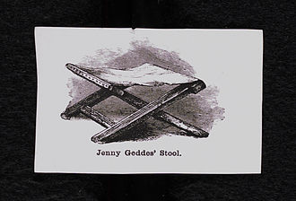 Jenny Geddes - Historic engraving of Jenny Geddes' stool