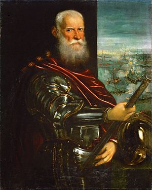 Republic of Venice - Sebastiano Venier commander of the Venetian fleet at Lepanto (1571)