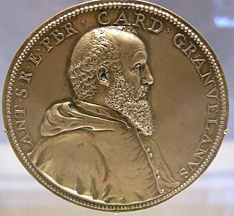 Antoine Perrenot de Granvelle - Medal of the cardinal by Jacques Jonghelinck