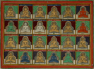 <i>Tirthankara</i> In Jainism, a saviour and spiritual teacher of the dharma
