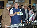 Jairam Ramesh launching the shoreline study maps of Gujarat and Puducherry, in New Delhi on December 29, 2010. The Secretary, Ministry of Environment and Forests, Shri Vijai Sharma is also seen.jpg