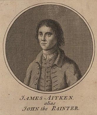 John the Painter - 1777 engraving of James Aitken