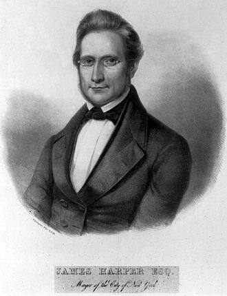 James Harper (publisher) - Official portrait of James Harper as New York Mayor in 1844