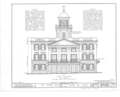 Jansonist Colony, Steeple Building, Main and Bishop Hill Streets, Bishop Hill, Henry County, IL HABS ILL,37-BISH,1- (sheet 1 of 6).png