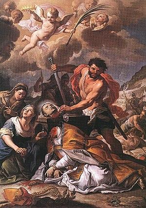 Januarius - Martyrdom of Saint Januarius by Girolamo Pesce