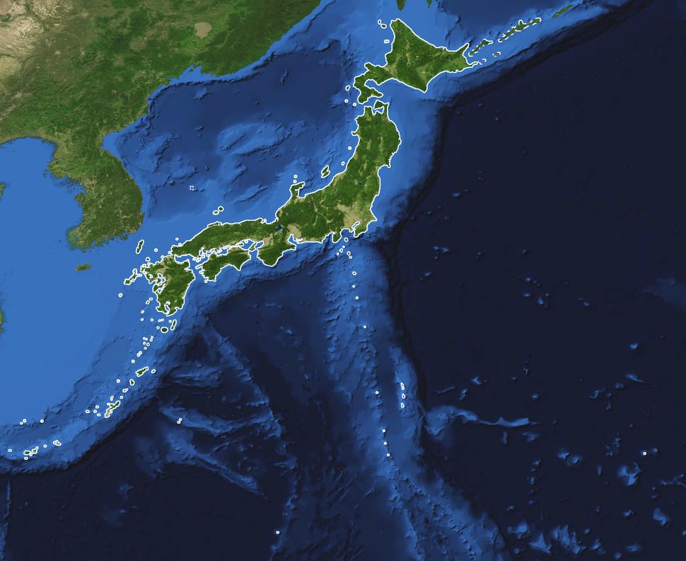 Japan-Archipelago-Outlined-Islands-Map