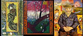 (a) La Courtisane (b) Pruniers en fleurs (c) Père Tanguy