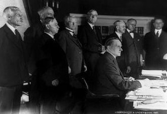 Revenue Act of 1926 - President Coolidge signs the act in a small ceremony.