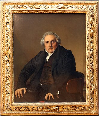 Portrait of Monsieur Bertin - The original heavily decorated frame, probably designed by Ingres
