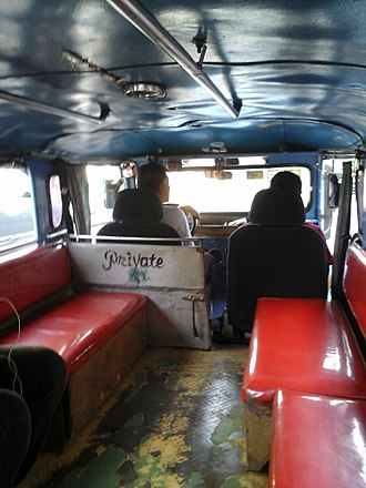 Jeepney - The interior of a 2nd-generation jeepney