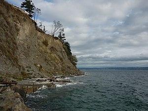 Feeder bluff - Feeder Bluff located at Jefferson Beach in Kingston, Washington