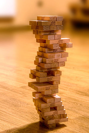 Jenga - A jenga tower
