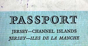 Jersey Legal French - Îles de la Manche (Channel Islands) used in a Jersey passport