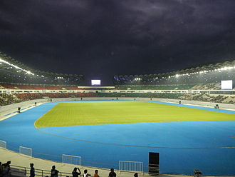 Philippine Sports Stadium - The PSS football field in November 2014