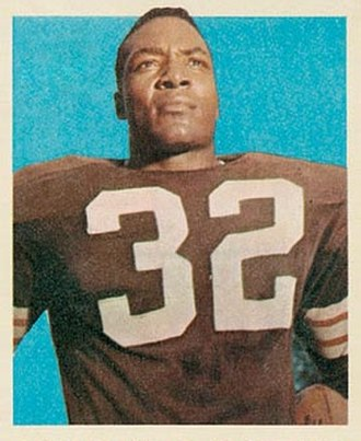 Jim Brown - Brown on a 1959 Topps collectible card