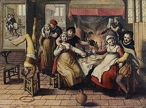 Brothel - Joachim Beuckelaer, Brothel, 1562