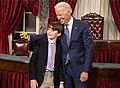 Joe Biden taking a selfie with a child 2015-01-06.jpg